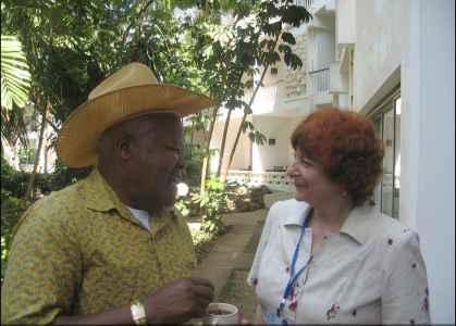 Встреча с министром рыболовства Кении на заседании Консультативного совета АСФА (Кения, 2007 г.)
