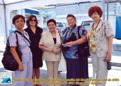 Участники рабочих групп в рамках АСФА, г. Гуаякиль, Эквадор, 2011. Слева направо – представители Кубы, Канады, Перу, Франции, России
